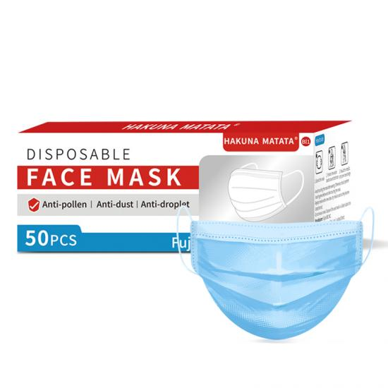 Blue 3 Ply  Protective Disposable  Mask
